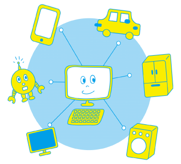IoTの世界概念の画像