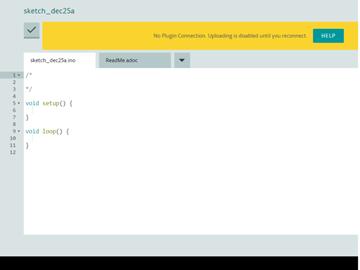 ArduinoIDEの画面