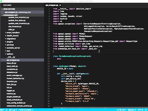 Python(パイソン)プログラミングの画面